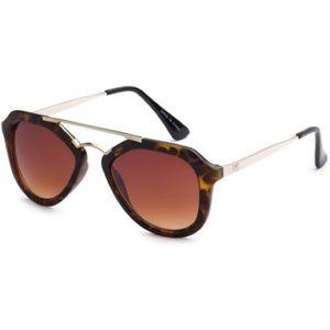 EASON EYEWEAR Spotted Aviator Sunglasses Eye Shade